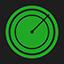 Radar flat icon