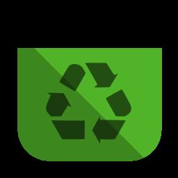 Recycling bin empty