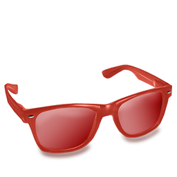 Red Glasses Icon Download Wayfarer Icons Iconspedia