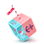 Sailing cube icon