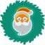 Santa Wreath Icon