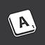 Scrabble grey icon