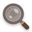 Search flat brown icon