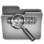 Search Steel Folder icon