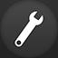 Settings flat circle icon