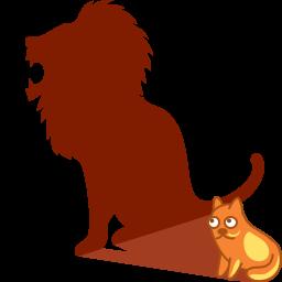 Shadow Lion Icon Download Cat Shadows Icons Iconspedia