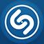 Shazam flat circle icon