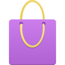 Shopping Bag Purple