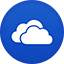 Skydrive flat circle icon