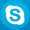 Skype flat circle-128