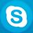 Skype flat circle-48