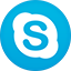 Skype flat circle icon
