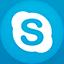 Skype flat circle-64