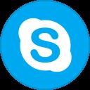 Skype Round With Border-128