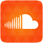Soundcloud orange icon