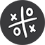 Tic Tac Toe Game grey Icon