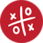 Tic Tac Toe Game red icon