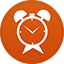 Timer flat circle icon