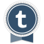 Tumblr Round Ribbon icon