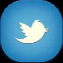 Twitter Blue Flat Round