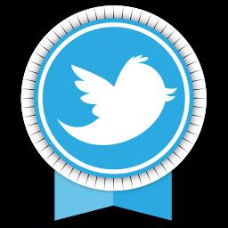 Twitter Round Ribbon