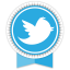 Twitter Round Ribbon icon