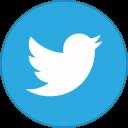 Twitter Round With Border-128