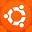 Ubuntu flat circle icon