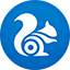 Uc Browser flat circle icon