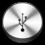 Usb Drive Circle icon