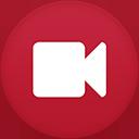 Video Camera flat circle-128