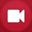 Video Camera flat circle icon