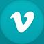 Vimeo flat circle icon