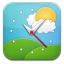 Weather Clock Simple icon