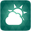 Weather green icon