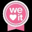 We Heart It Round Ribbon Icon