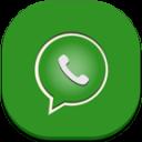 Whatsapp Flat Round