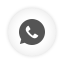 Whatsapp white round icon