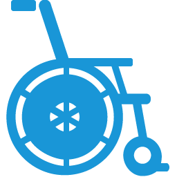 Wheelchair blue