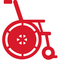Wheelchair red