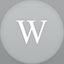 Wikipedia flat circle Icon