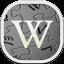 Wikipedia Flat Round icon