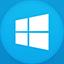 Windows 8 flat circle icon