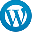Wordpress flat circle icon