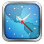 Worldclock Silver Border icon