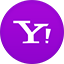 Yahoo flat circle icon