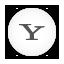 Yahoo white round Icon