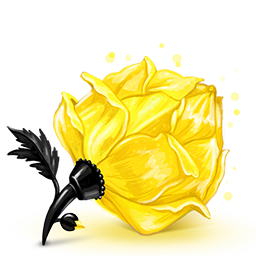 Yellow Rose cube