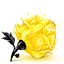 Yellow Rose cube icon