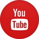 Youtube flat circle-128